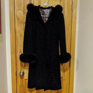 Marvin Richards fox fur trim hooded coat